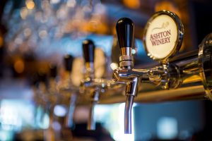 Close-up of wine on tap shows an innovative, economical way of serving Cape wines